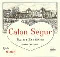Chateau Calon Segur 卡龍世家酒莊干紅葡萄酒 年份:2005
