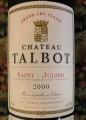 Chateau Talbot 大寶酒莊干紅葡萄酒 年份:2000
